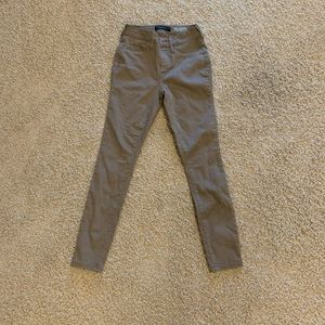 aeropostale khaki high waisted jeggings!